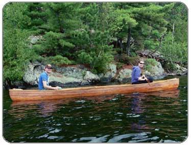 Cedar strip canoe kipewa