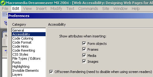 Web Accessibility: Designing Web Pages for All Users
