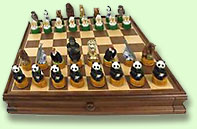 endangered species chess set