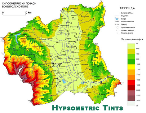 Seay Maps Hypsometric Map - Elevation map